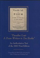 Paradise Lost: . An authoritative text of the 1667 first edition