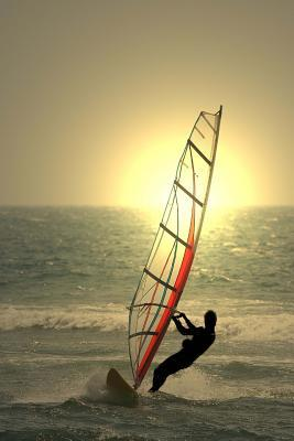 Windsurfing at Sunset Lined Journal