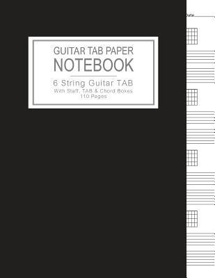 Guitar Tab Paper Notebook