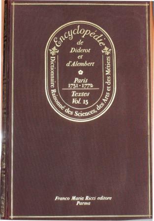 Encyclopédie, Tomo XV