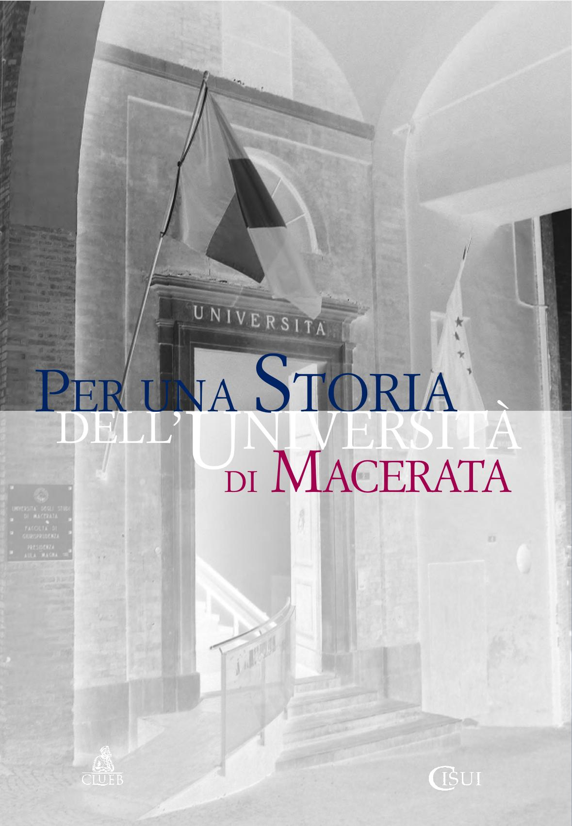 Per una storia dell'Università di Macerata