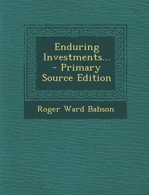 Enduring Investments...