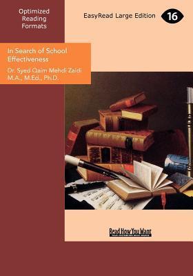 In Search of School Effectiveness