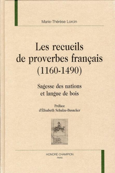 Les recueils de proverbes français (1160-1490)