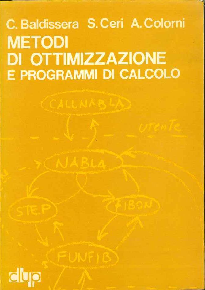 Metodi di ottimizzazione e programmi di calcolo