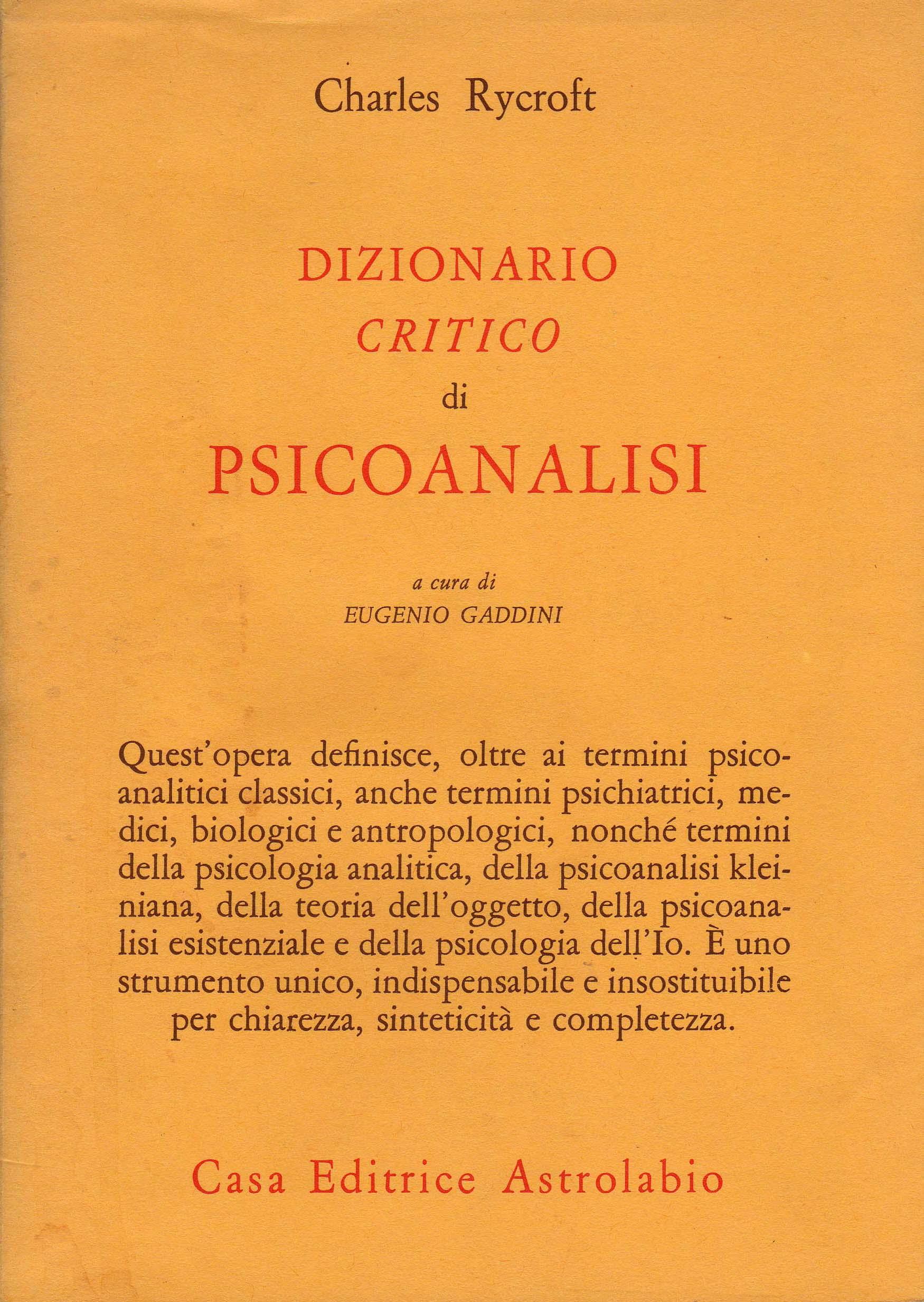 Dizionario critico d...