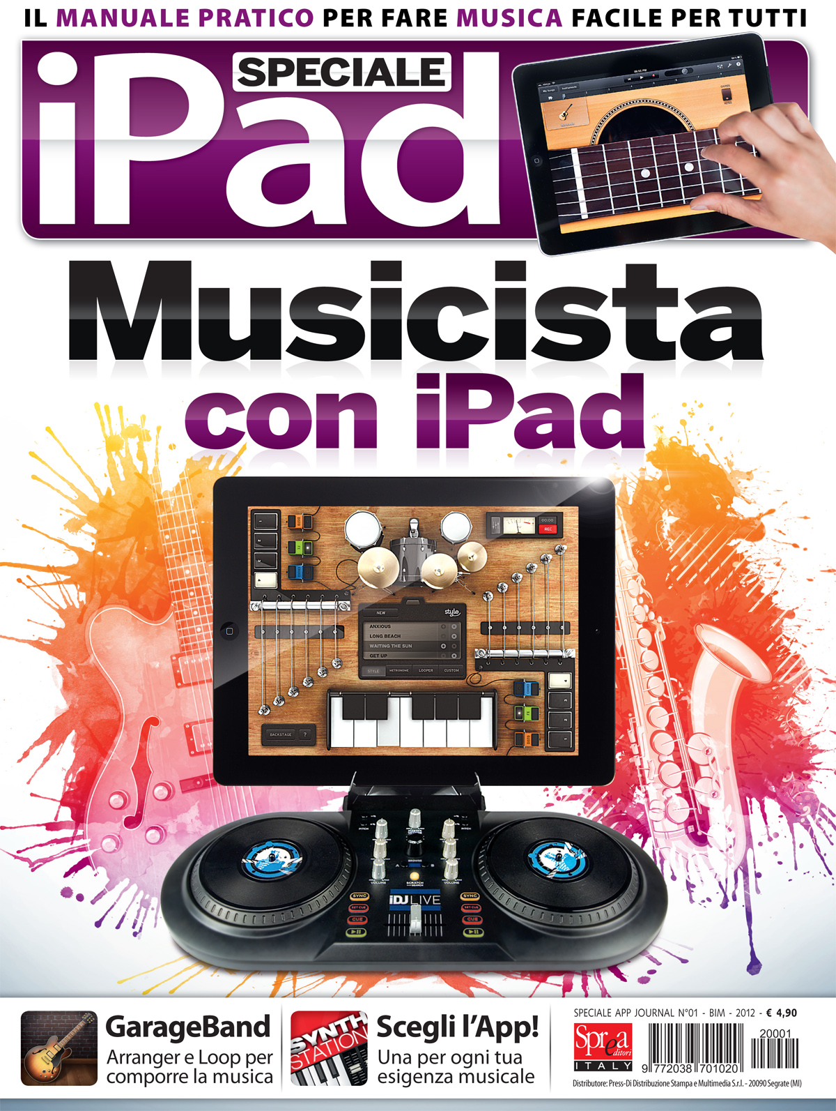 Musicista con iPad