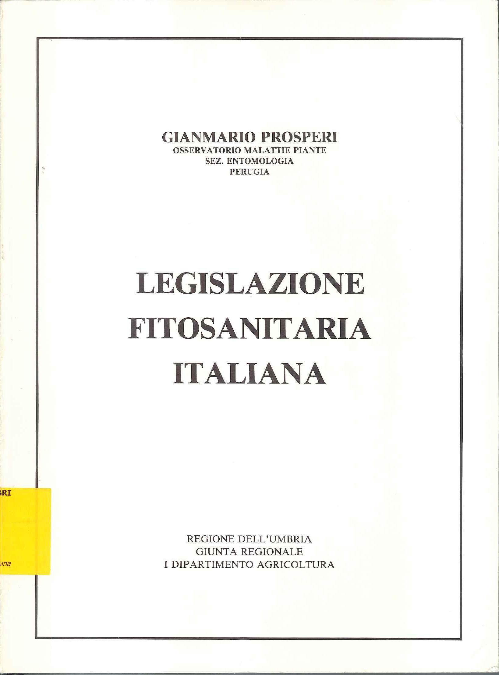 Legislazione fitosanitaria italiana