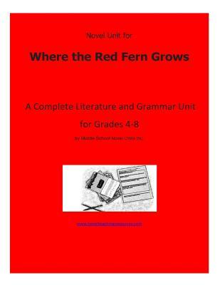 Novel Unit for Where the Red Fern Grows