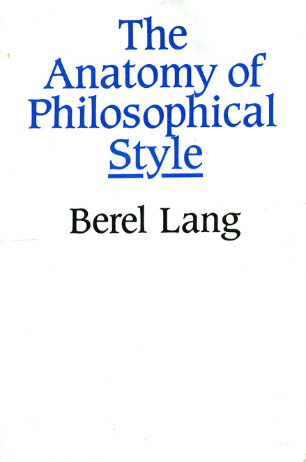 The Anatomy of Philosophical Style