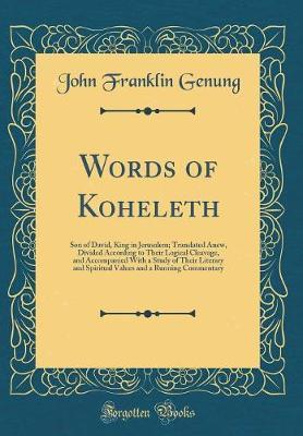 Words of Koheleth