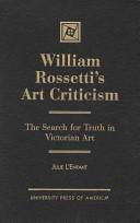 William Rossetti's art criticism