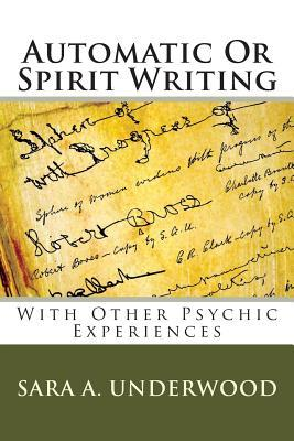 Automatic or Spirit Writing