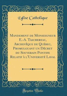 Mandement de Monseig...