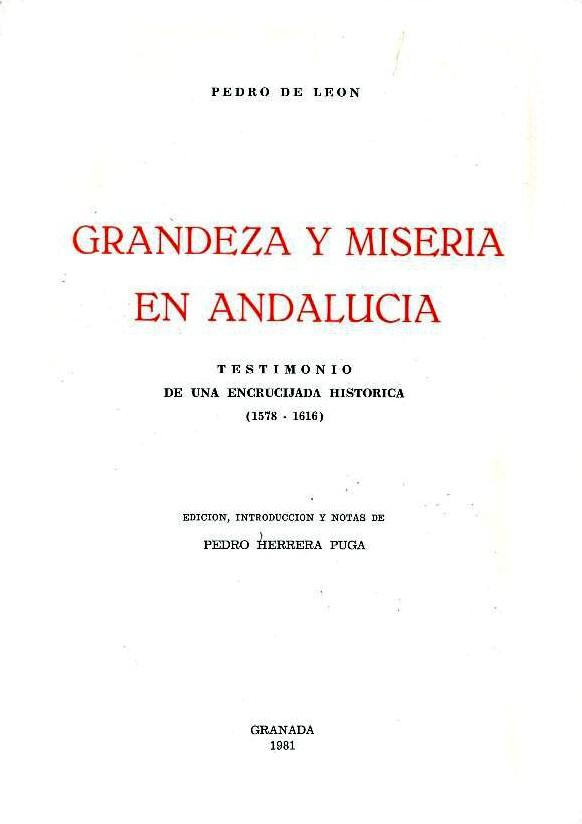 Grandeza y miseria en Andalucía