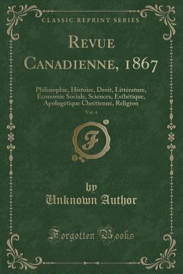 Revue Canadienne, 1867, Vol. 4