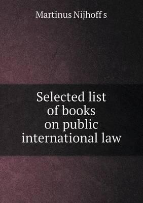 Selected List of Books on Public International Law