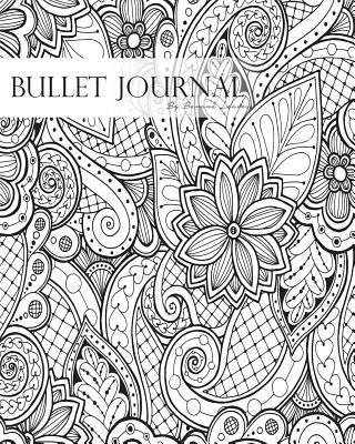 Bullet Journal Black White Drawing Line Mandala Floral Notebook