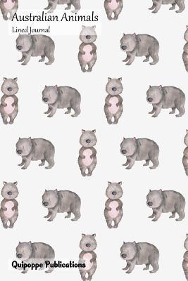 Australian Animals Lined Journal