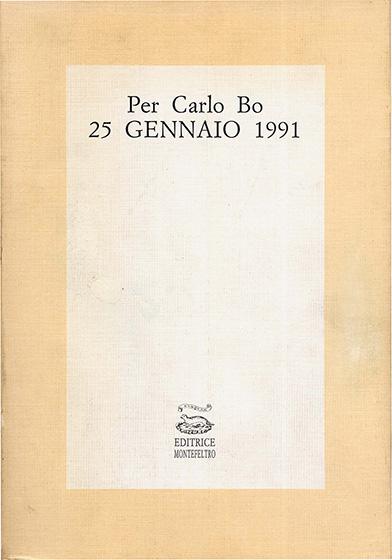 Per Carlo Bo