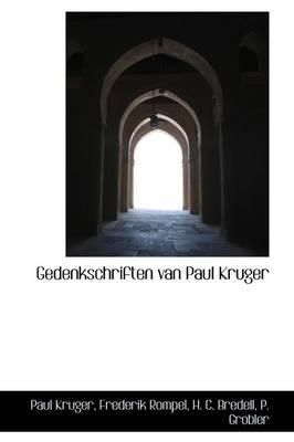 Gedenkschriften Van Paul Kruger