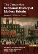 The Cambridge Economic History of Modern Britain, Vol. 2