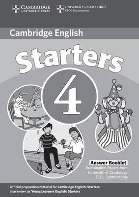Cambridge Young Learners English Tests Starters 4 Answer Booklet