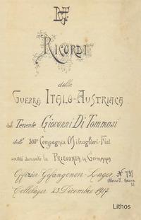 Ricordi della guerra italo-austriaca del tenente Giovanni Di Tommasi