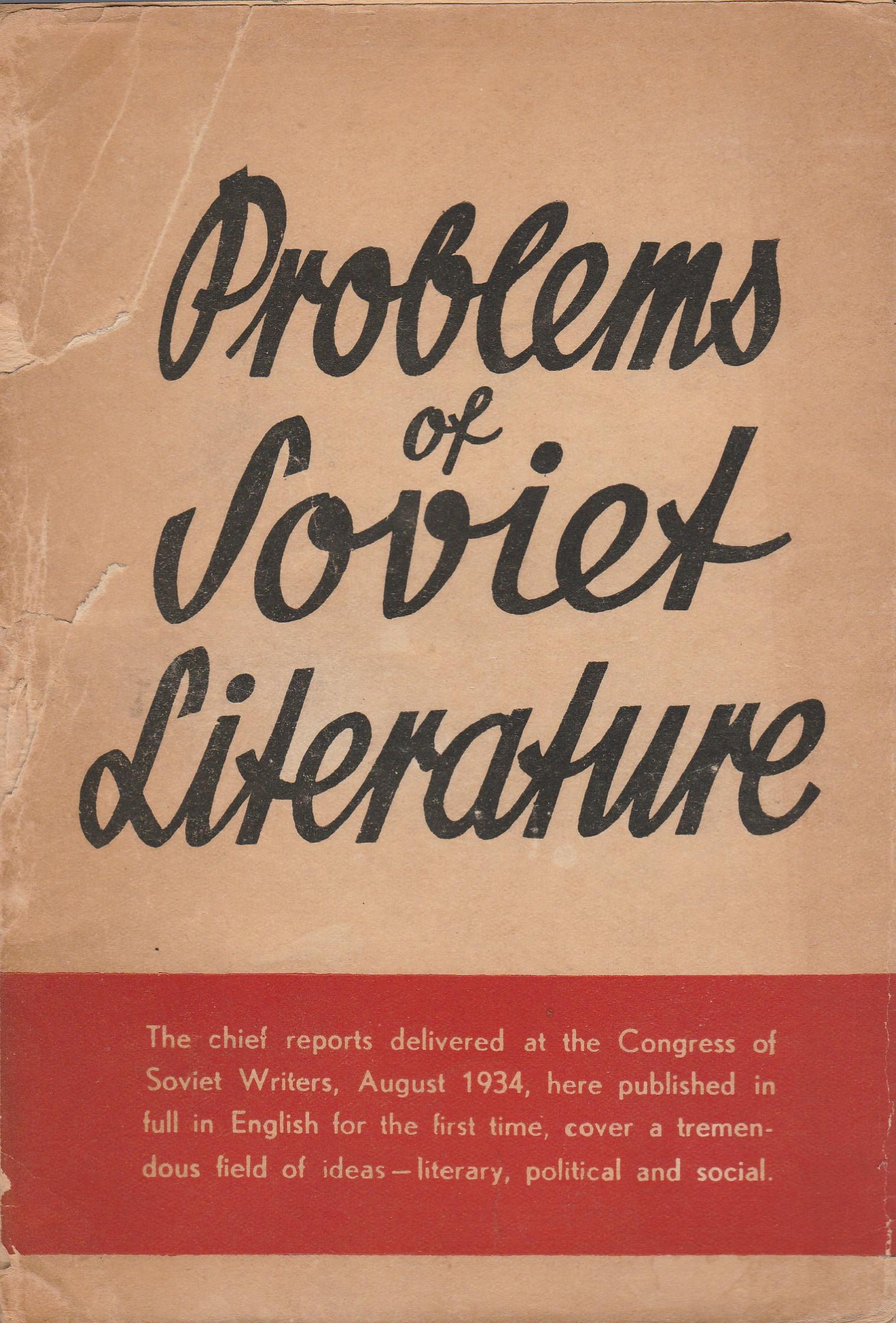 Problems of Soviet Literature