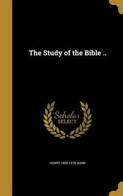 STUDY OF THE BIBLE