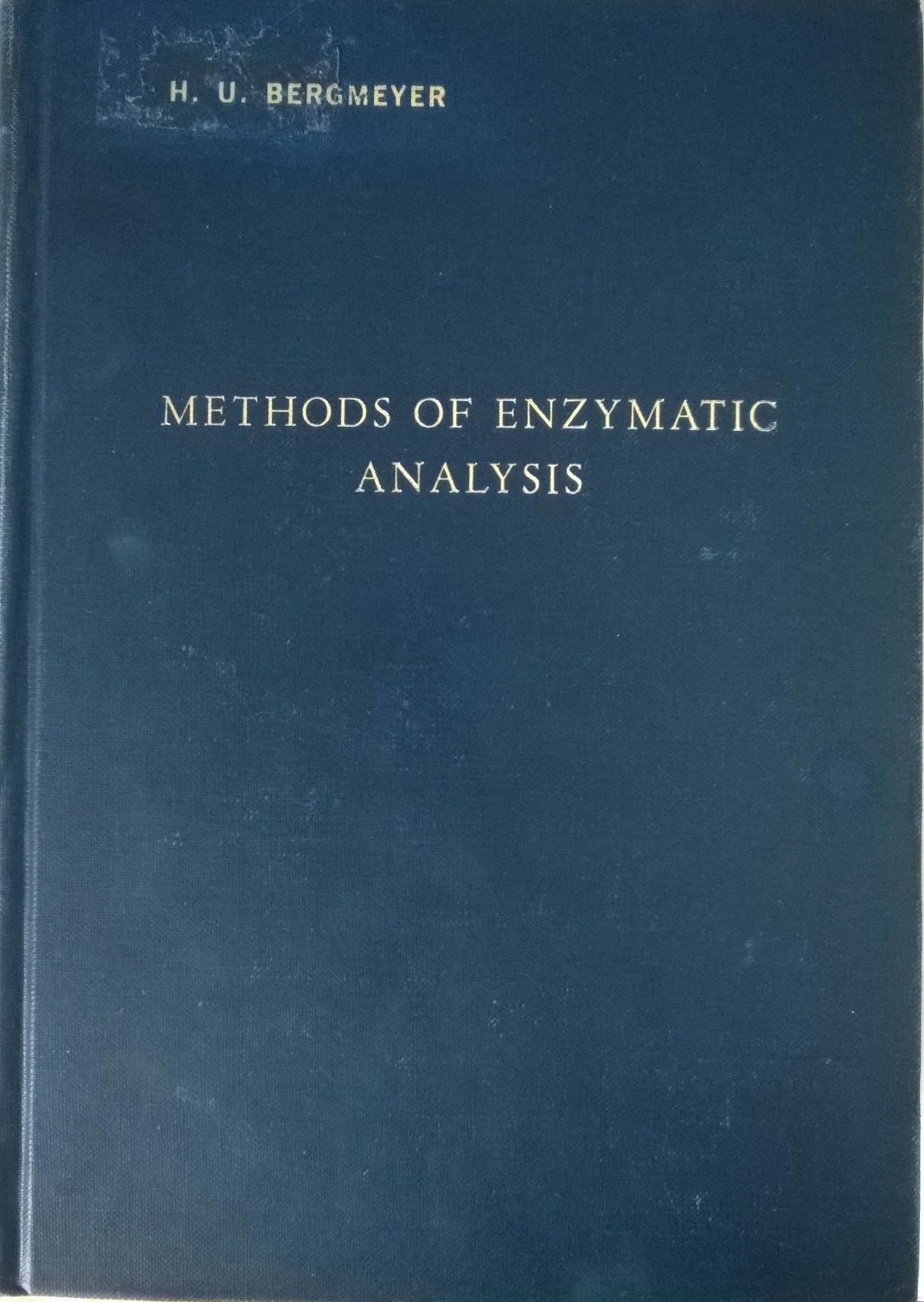 Methods of Enzymatic Analysis
