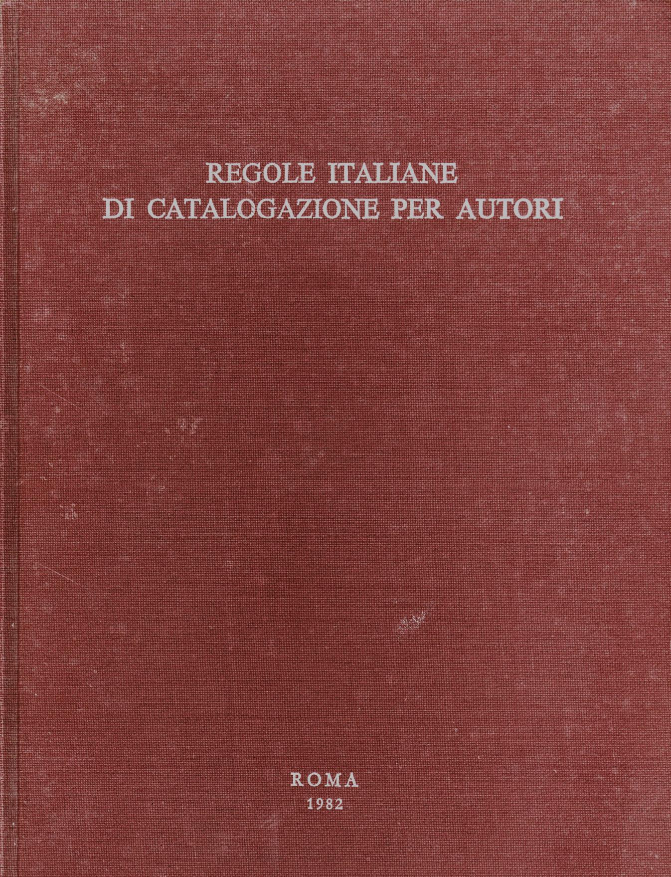Guida alla catalogazione in SBN
