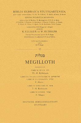 Hebrew (Stutt) Megilloth