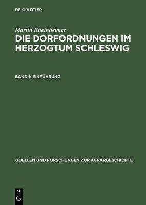 Die Dorfordnungen im Herzogtum Schleswig