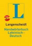 Langenscheidts Handwörterbuch Lateinisch-Deutsch