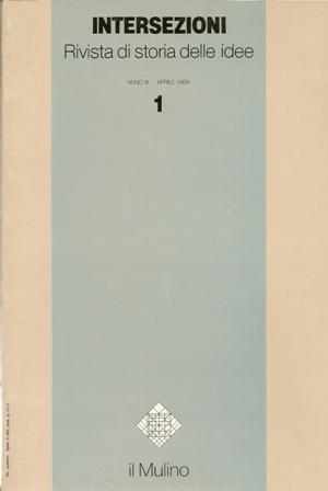 Intersezioni 1 Anno IX Aprile 1989