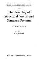 Teaching of Structural Words and Sentence Patterns