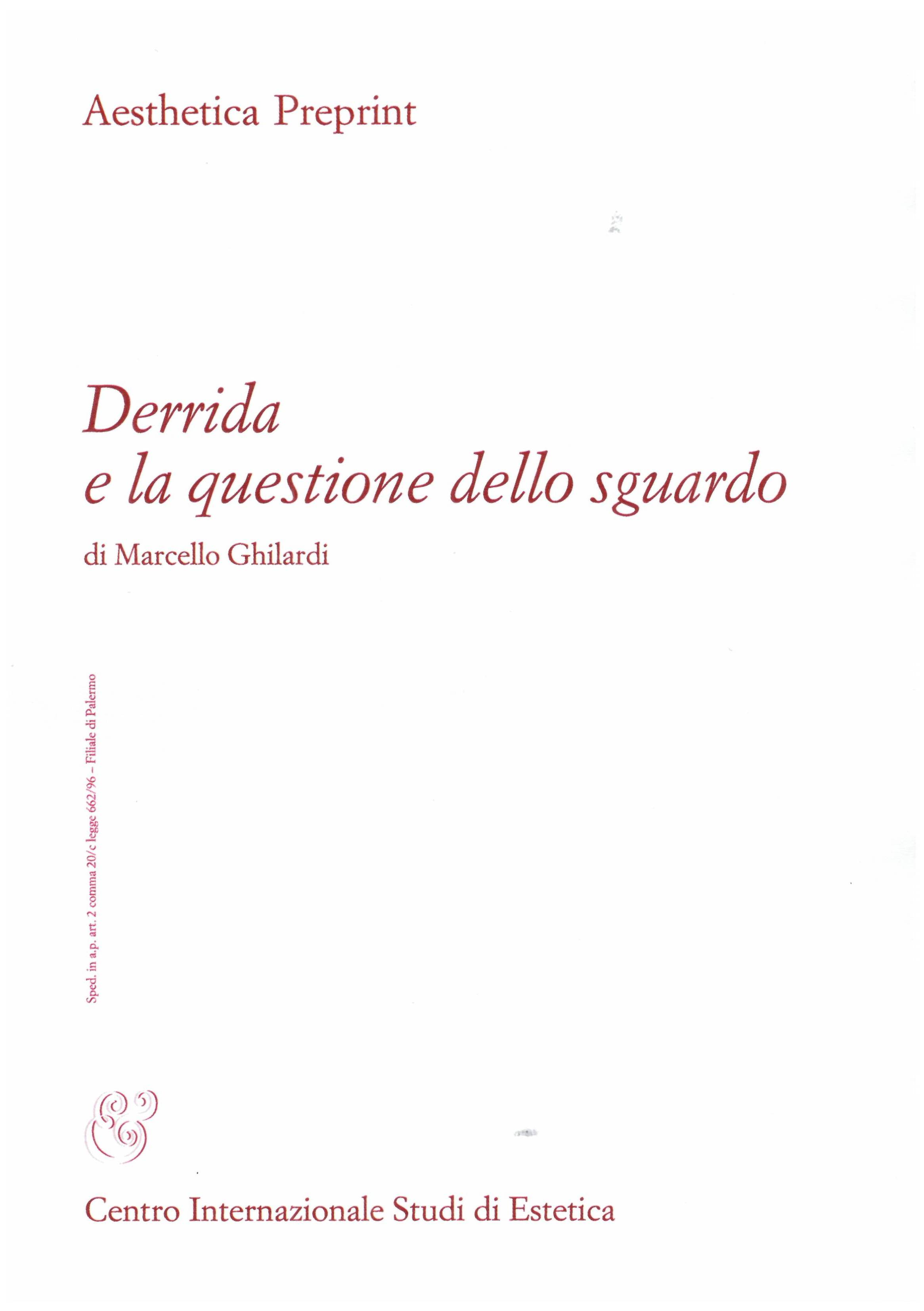 Derrida e la questione dello sguardo