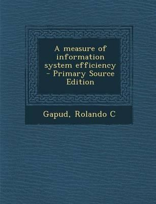 A Measure of Information System Efficiency