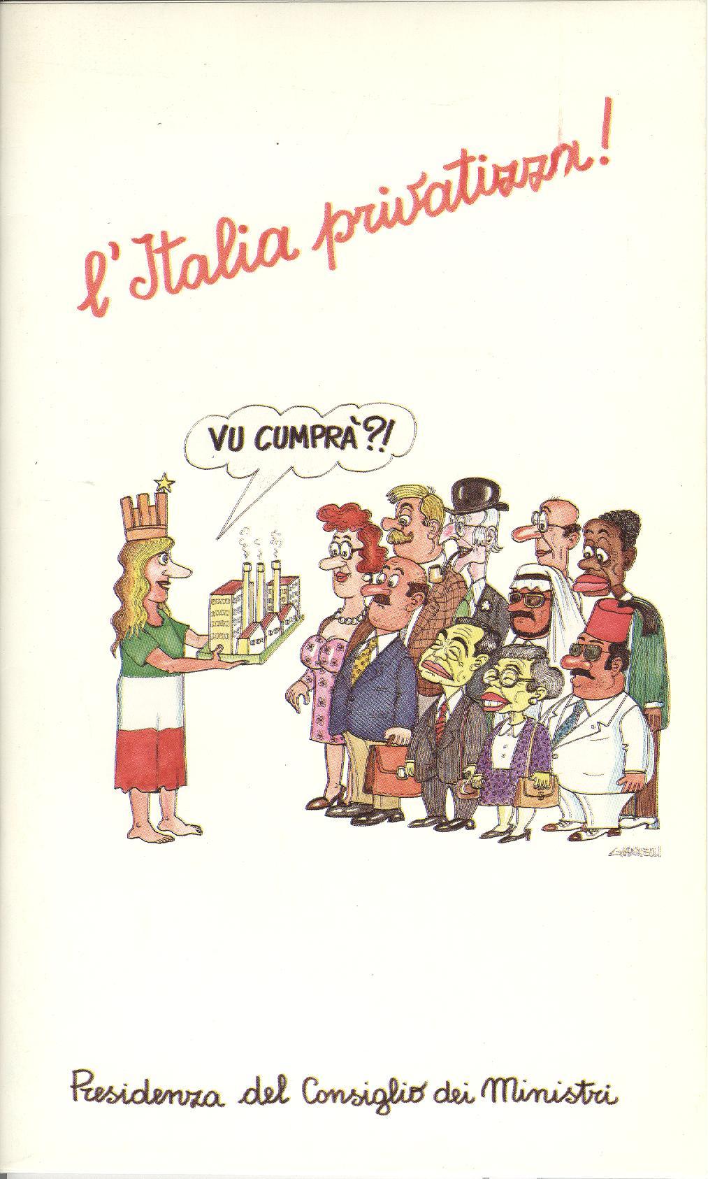 L'Italia privatizza