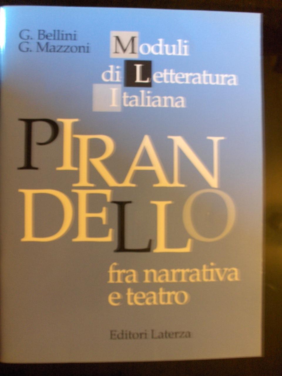 Pirandello fra narrativa e teatro