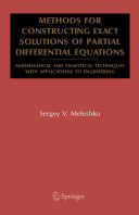 Methods for Constructing Exact Solutions of Partial Differential Equations