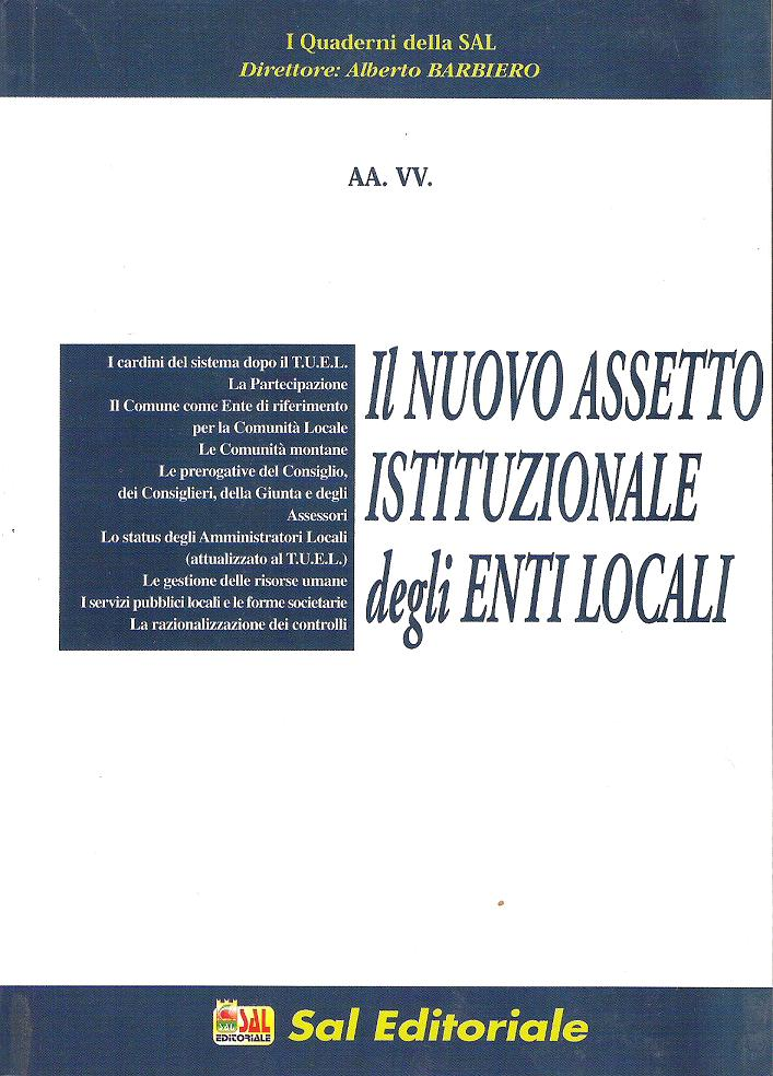 Il nuovo assetto istituzionale degli enti locali
