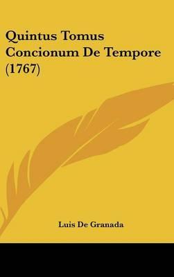 Quintus Tomus Concionum de Tempore (1767)