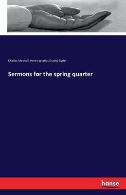 Sermons for the spring quarter