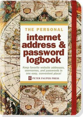 Old World Internet Address & Password Logbook