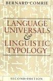 Language Universals and Linguistic Typology