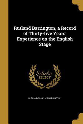 RUTLAND BARRINGTON A RECORD OF