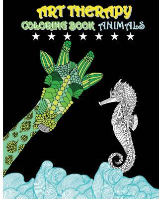 Art Therapy Coloring Book Animals