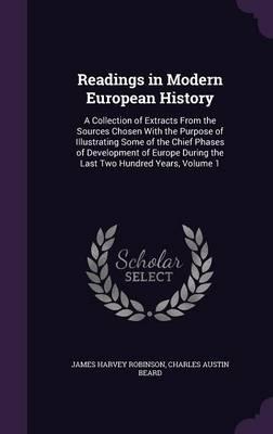 Readings in Modern European History